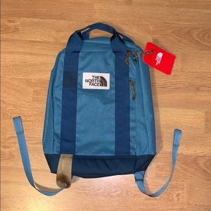 NWT The North Face Tote Pack Backpack, Blue